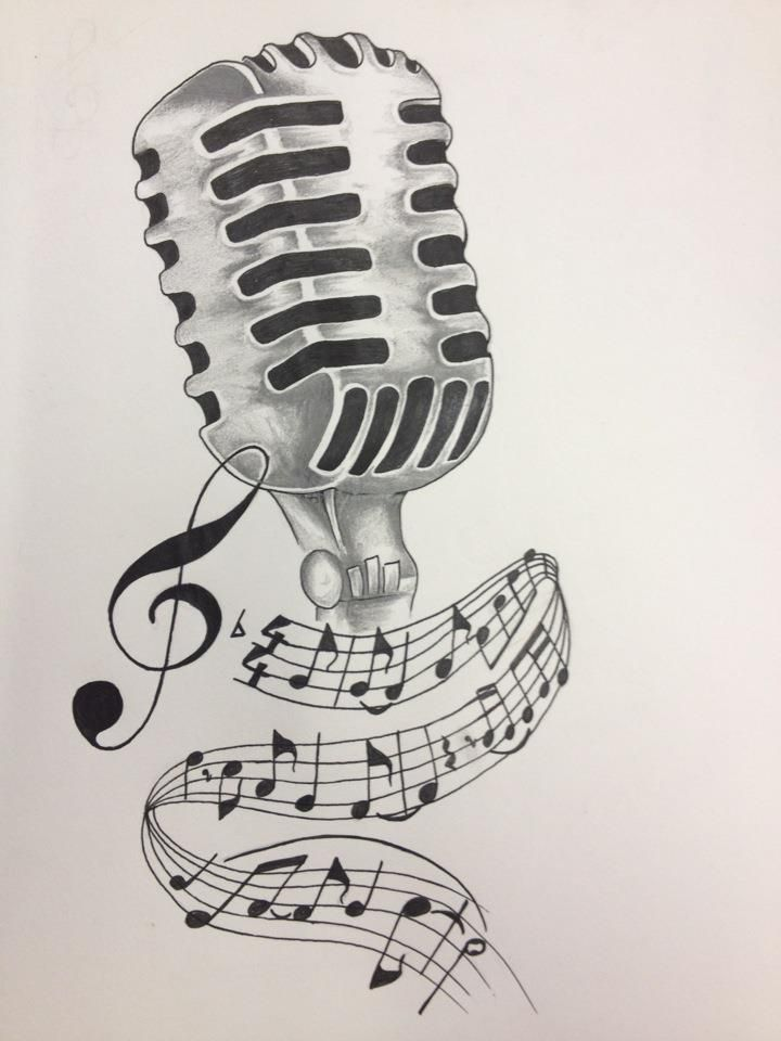 vintage microphone drawing - Google-søgning | Drawing ...