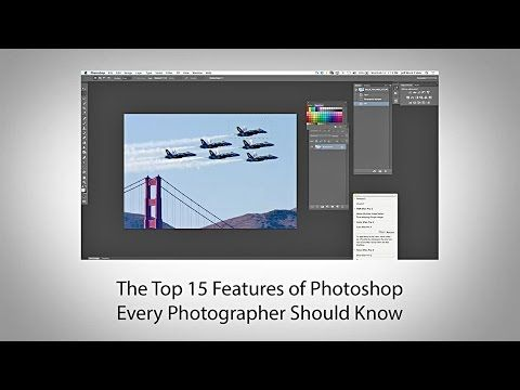 Top 15 Photoshop Tools Every Photographer Should Know (Video Tutorial) – PictureCorrect The top 15 the video goes over are: Straightening, Exposure, Contrast, White Balance, Sharpening, Luminance, Graduated Filter, Cropping, Record Script, Spot Healing Brush, Content Aware Fill, Layer Mask, Cloning, Vibrance, Custom Brush, and Clarity