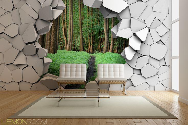 Fototapeta 3D Las >> http://lemonroom.pl/fototapety-35-Fototapety-D-wf217-Las-w-scianie.html  #fototapety #fototapeta #fototapety3D #Design #WystrójWnętrz #inspiracje #Dekoracje #Wnętrza #Aranżacje #Wnetrza #wystrojwnetrz #InteriorDesign #HomeDecor #Decorating #WallDecor #WallArt #Wallmurals #murals