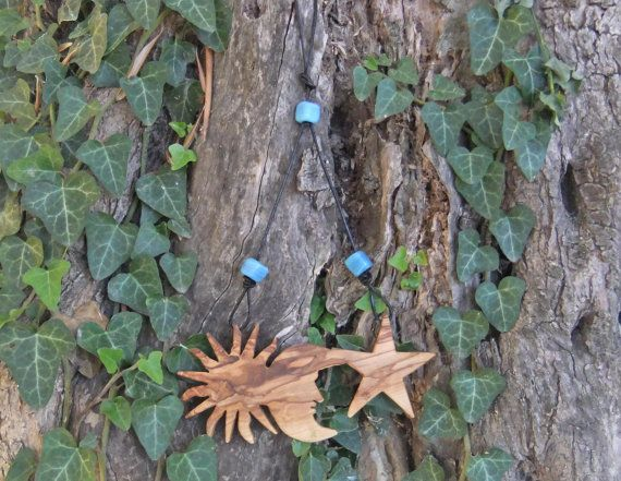 Sun Moon & Star Wall plaque with hand made blue by ellenisworkshop, $45.00