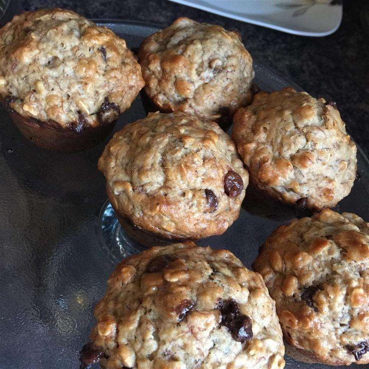 Muffins bananes, avoine et pépites de chocolat | Recette | Muffins, Muffins moelleux, Pepite ...
