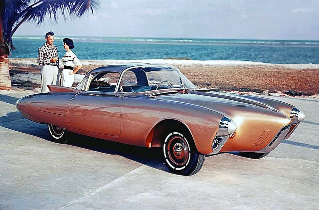 1956 Oldsmoblie Golden Rocket Concept Car | Flickr - Photo Sharing!