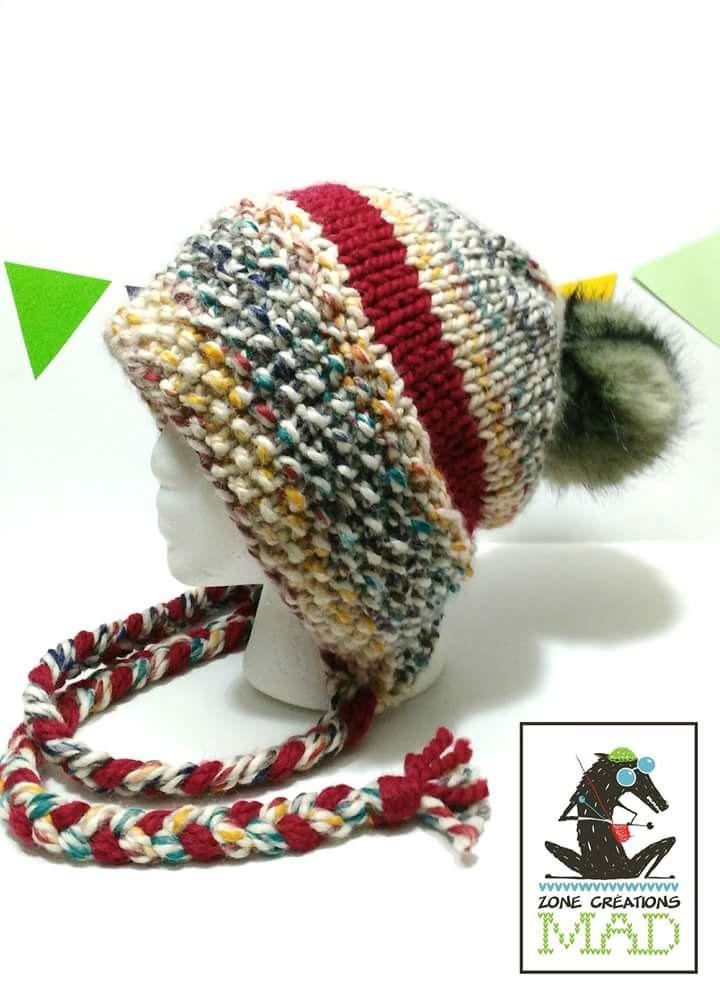 Patron de tricot, patron tuque Éliza, patron de tuque au tricot de la boutique ZoneCreationsMAD sur Etsy