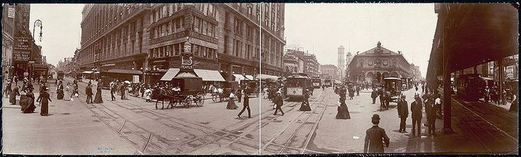 Herald Square circa 1907, when Ida Wood first moved into the Herald Square Hotel. Everything Was Fake but Her Wealth   History   Smithsonian