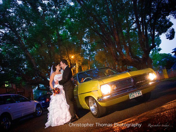 Brisbane Wedding Photographers, Wedding car, Christopher Thomas Photography