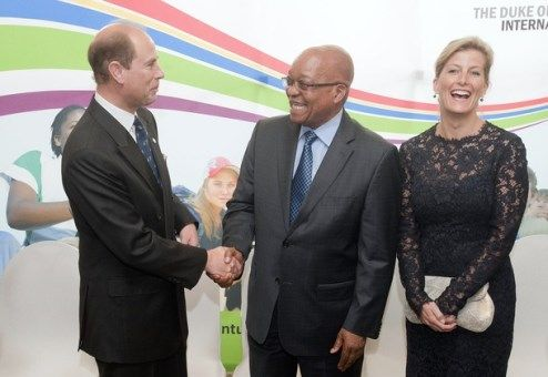 In Cape Town, the Earl and Countess of Wessex Have Chaired with the President of South Africa Jacob Zuma awards the 'Duke of Edinburgh. ""