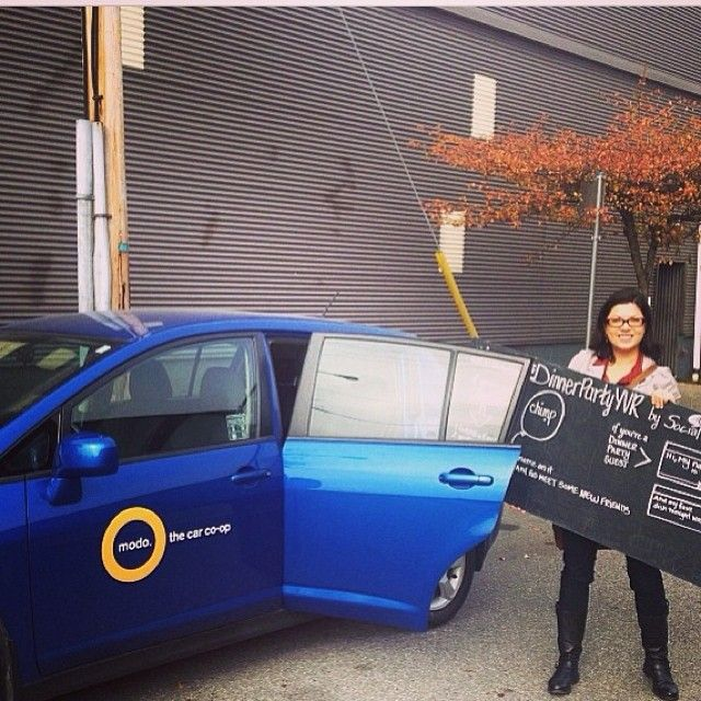 Today @modo_carcoop donated more than $4500 in car sharing matching donations made during #dinnerpartyyvr to the 24 participating charities. We have a lot of #charitylove for you!