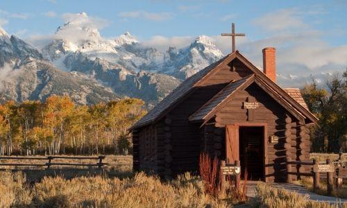 Chapel of the Transfiguration.  Grand Teton National Park