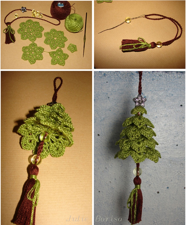 Another way to show your holiday spirit crochet - Ornament tapete weiay ...