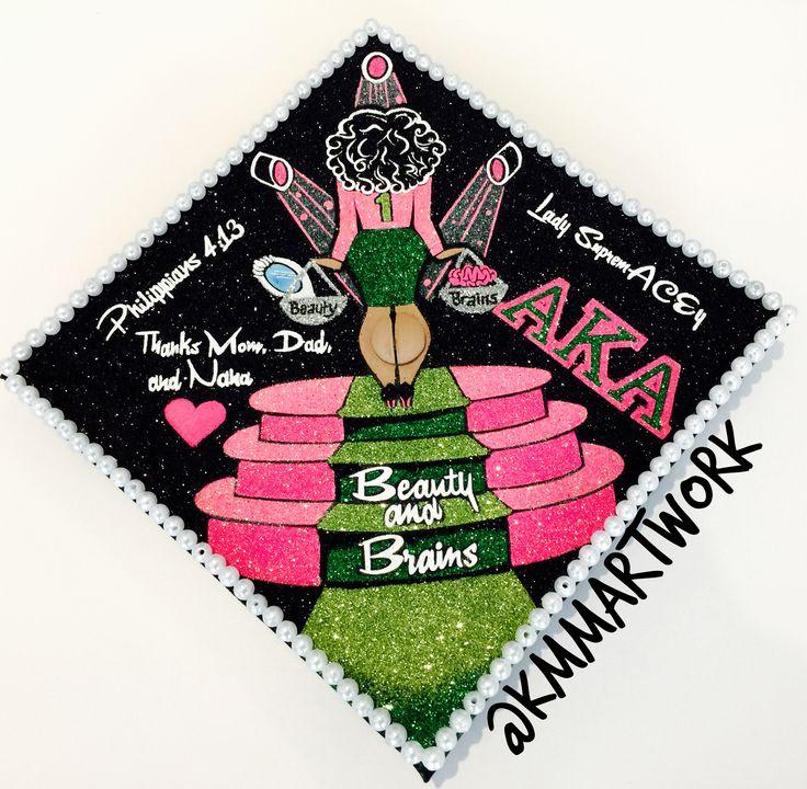 Alpha Kappa Alpha Sorority Graduation Cap 2016