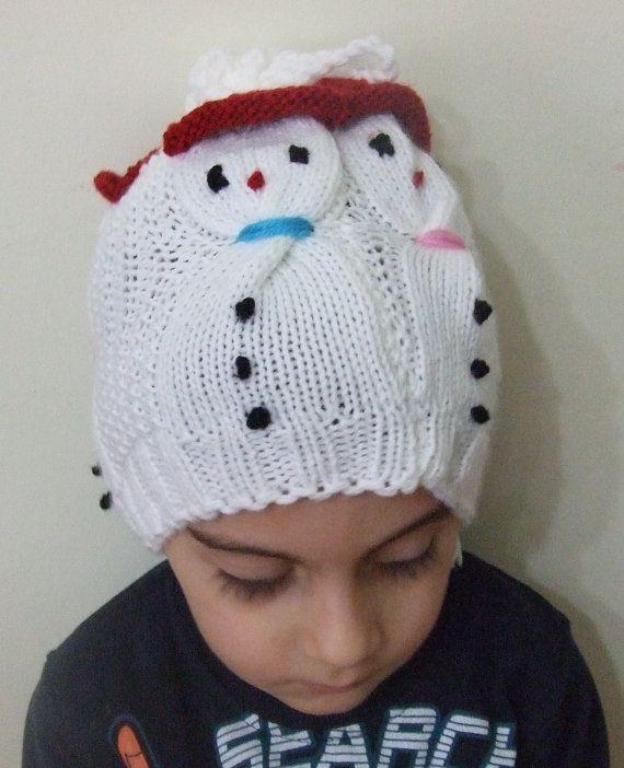 Children Hat Baby Hat Baby Knit Hat Children White Hat by SELINCE