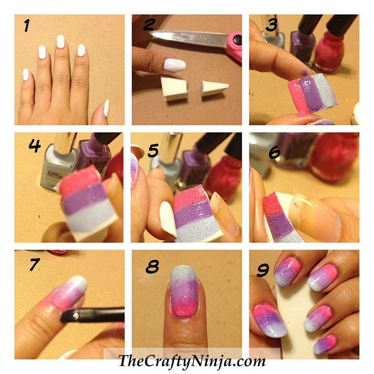 Diy Autumn Gradient Nail Art: 25+ Best Ideas About Gradient Nails Tutorial On Pinterest