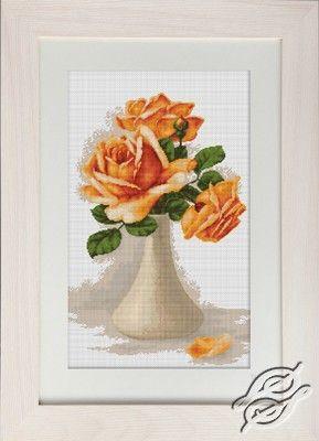 Orange Roses - Cross Stitch Kits by Luca-S - B505