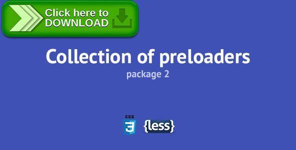 [ThemeForest]Free nulled download Collection of Preloaders 2 from http://zippyfile.download/f.php?id=40676 Tags: ecommerce, ajax loader, ajax preloader, ajax preloaders, animated, animation, css, css3, loader, loading, page preloader, preloaders, responsive, spinner, transition