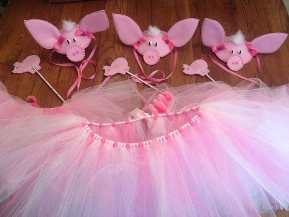 Three Little Pigs Costume Set by SeeSalSew on Etsy, $40.00