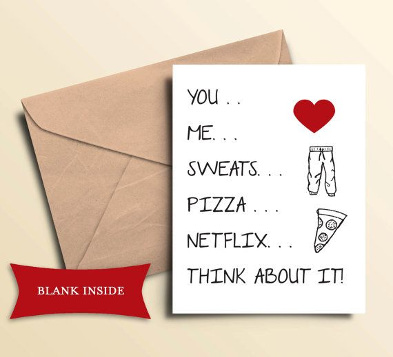 Printable Pizza and Netflix Card