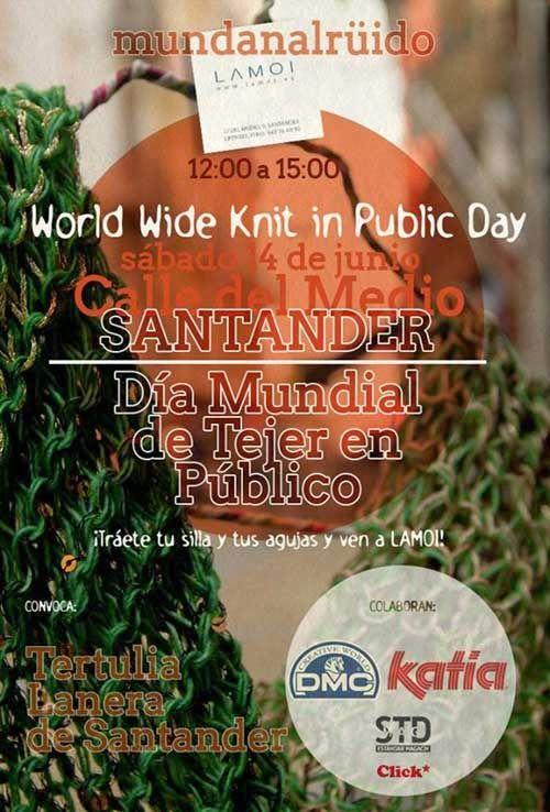 El blog de Dmc: Día mundial de tejer en público