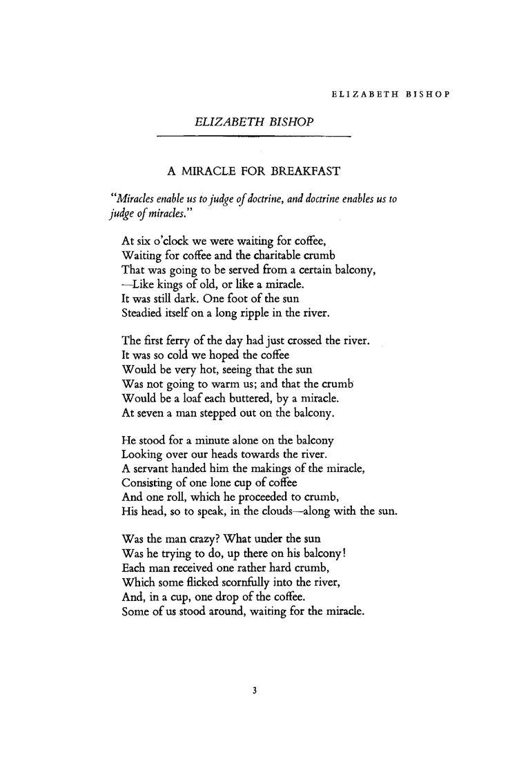 Vivid imagery in Elizabeth Bishop's poetry – Essay