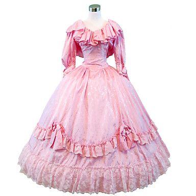 steampunk®civil krig southern belle ball kjole kjole rosa viktoriansk kjole halloween kjole 2016 – kr.1.121
