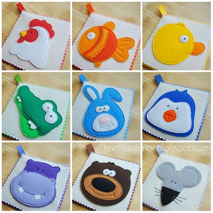 "textileinterior: Rainbow card ""Animals"""