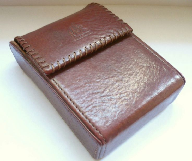 Excited to share the latest addition to my #etsy shop: Vintage brown leather Cigarette case M+K #vintage #collectibles #cigarettecase http://etsy.me/2ymFunr