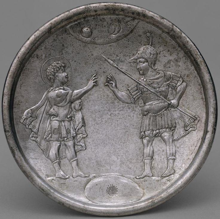Confrontation of David with Eliab - Byzantine Plates - Herakleios, early 7th century