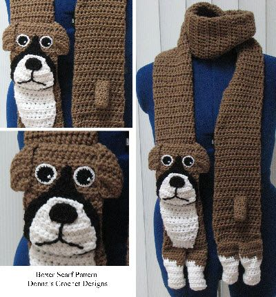Boxer Scarf Crochet Pattern Dog Scarves Pinterest ...