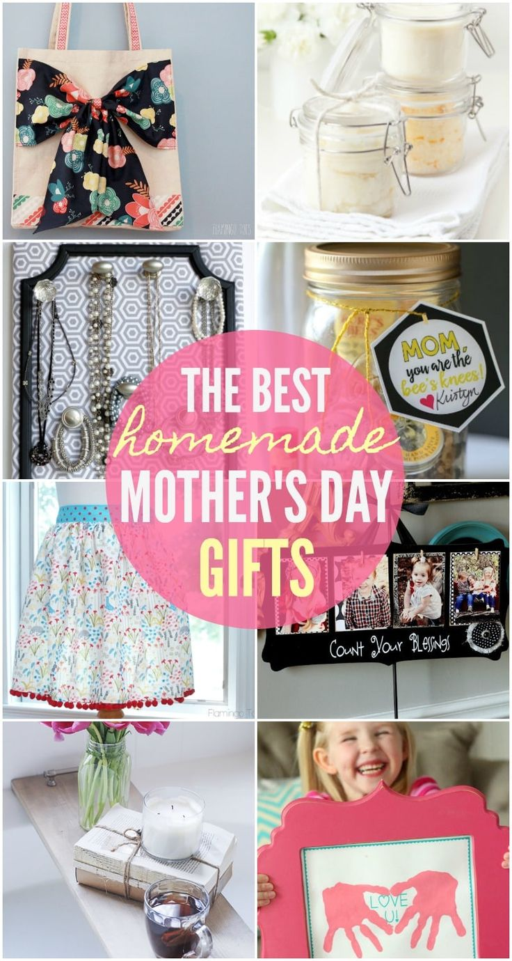 A mustsee collection of homemade mothers day gifts from