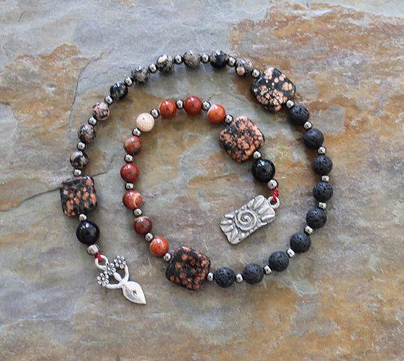 Beltane Fire Element Pagan Prayer Beads by IndigoDesertMoon