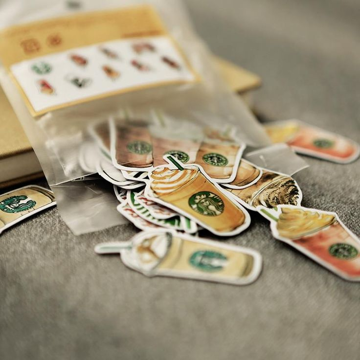 (25pcs/Pack) Cups Memo Pad Cute Decoration Label Stickers DIY Scrapbooking Stickers Star Buck Coffee Drink for School Diary