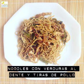 Noodles con verduras al dente y tiras de pollo - La dieta ALEA - blog de nutrición y dietética, trucos para adelgazar, recetas para adelgazar