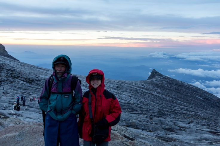 Our guarding angel guide with Claudine on summit morning
