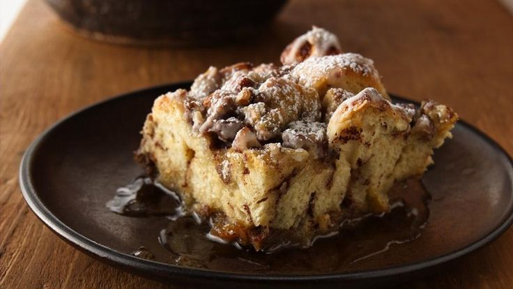 This easy breakfast bake features refrigerated cinnamon rolls that make quick work of favorite French toast flavors.