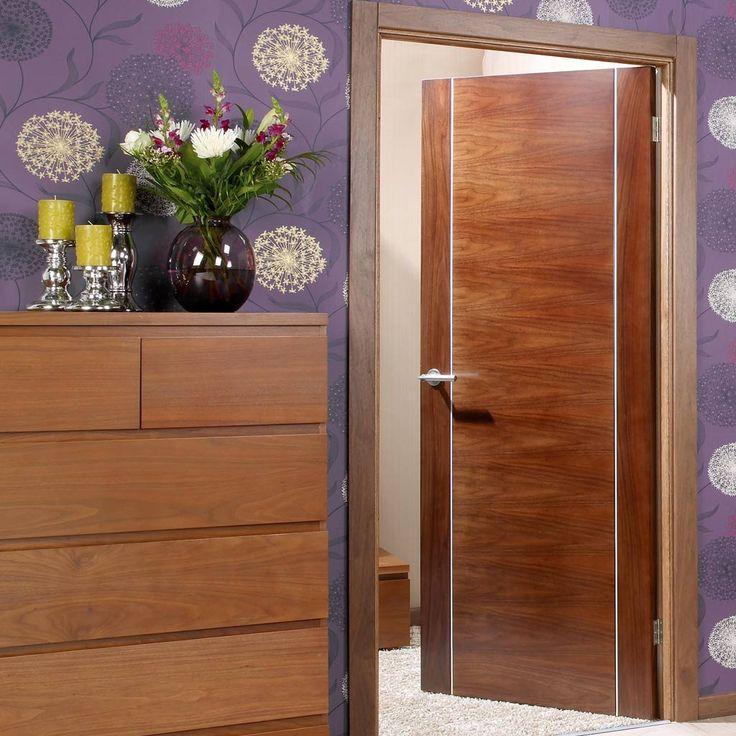 Alcaraz Walnut Flush Veneer Door Is Pre Finished