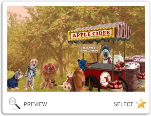 Autumn Fun ecard with dogs