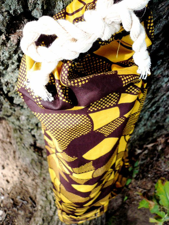 Brown and Yellow Spiderweb Tote by SuelaDesigns on Etsy