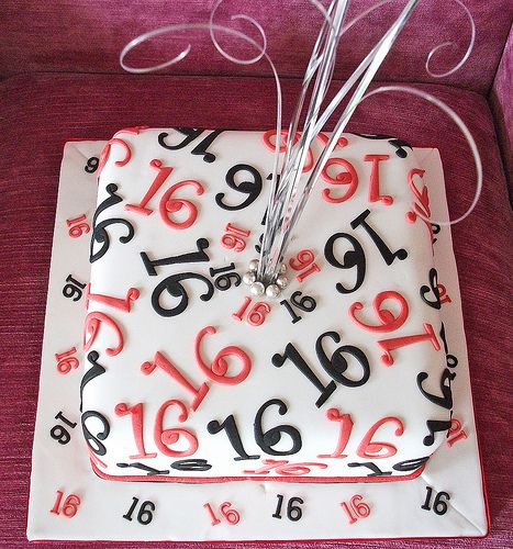 16th Birthday Cake | Coffee cake with an expresso swiss meri… | Flickr