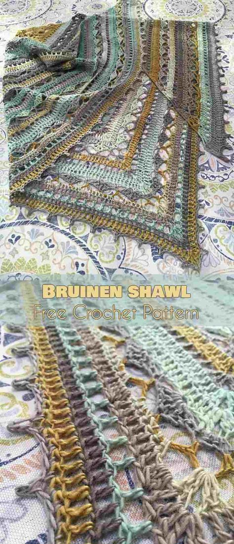 """Bruinen Shawl [Free Crochet Pattern] 