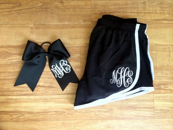 Monogrammed Running Shorts, and Monogrammed Cheer bow Set. Whether youre running errands, or running in a marathon, these preppy athletic