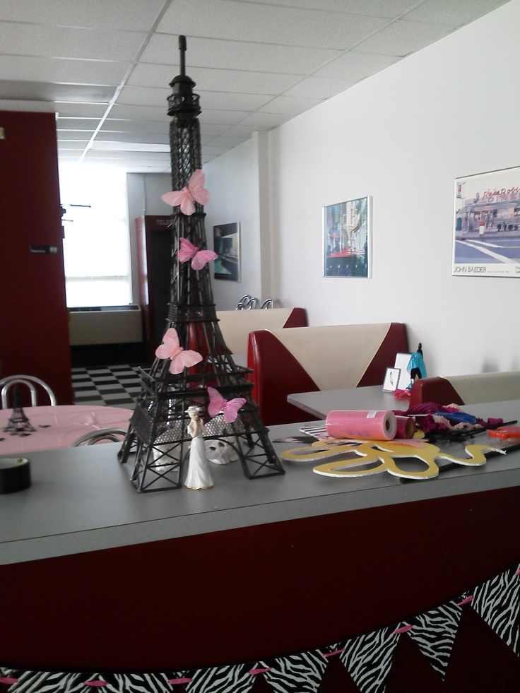 Decorations Eiffel Tower Centerpiece Barbie Goes To