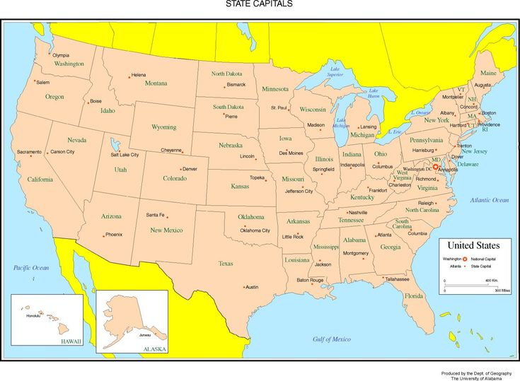 Map Of United States Labeled United States Map