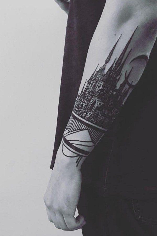 Castle forearm tattoo - 110 Awesome Forearm Tattoos <3 <3