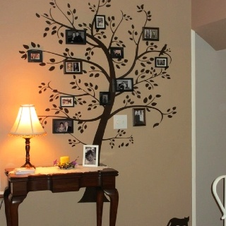 Painted family tree