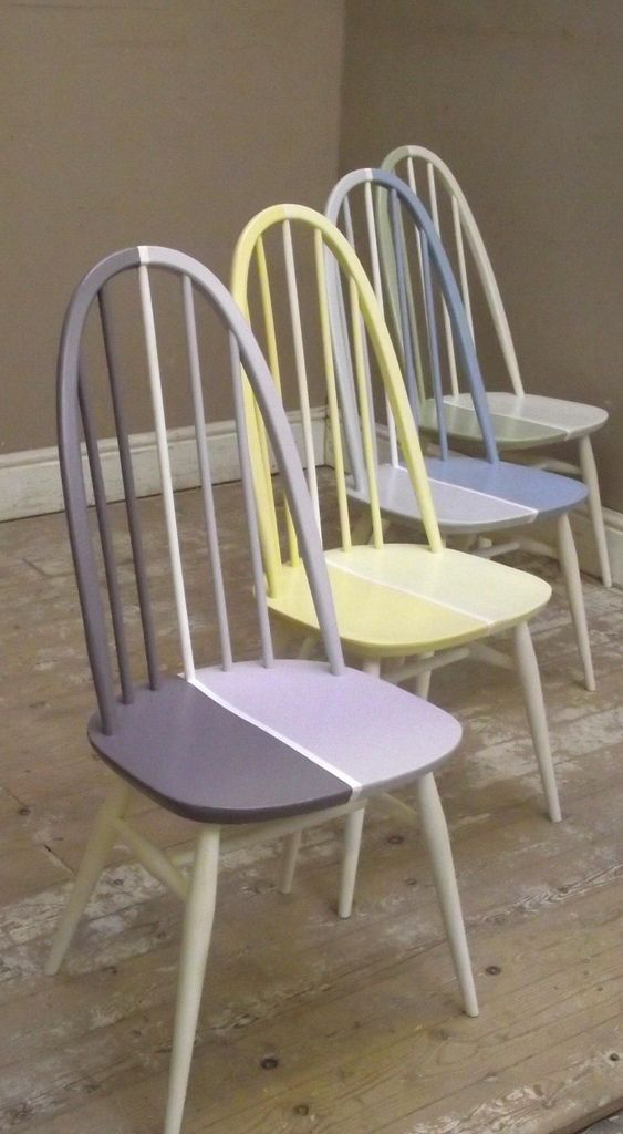 Bright Ercol Mid Century Vintage Dining Chairs | By Frenchfinds.co.uk
