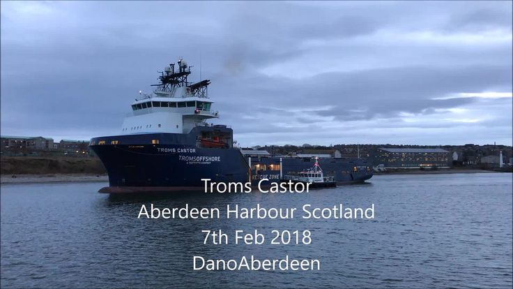 Troms Castor - Aberdeen Harbour Scotland - 7/2/2018IMO number  9422213 Name of the ship  TROMS CASTOR Type of ship  OFFSHORE SUPPLY SHIP MMSI  258170000 Gross tonnage  4366 tons DWT  4900 tons Year of build  2009 Builder  NUR ISTANBUL SHIPYARD - ISTANBUL TURKEY Flag  NORWAY Home port  TROMSO Class society  DET NORSKE VERITAS Manager & owner  TROMS OFFSHORE - TROMSO NORWAY seashepherd pilotboat aberdeen amateur aberdeenscotland aberdeencity abdn aberdeenharbour abz candid tug tugboat…
