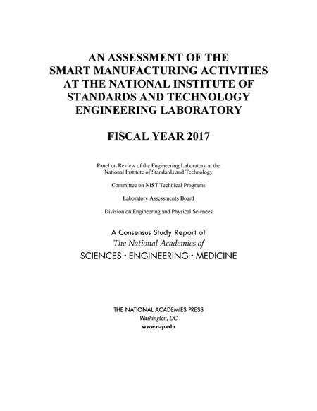 26 best industry and labor images on pinterest medical medical an assessment of the smart manufacturing activities at the national institute of standards and technology engineering laboratory fiscal year 2017 fandeluxe Images