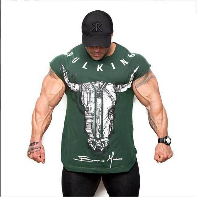 Gym Sports Shirt Men Bodybuilding Fitness Tee Short Sleeve Workout Top Crossfit