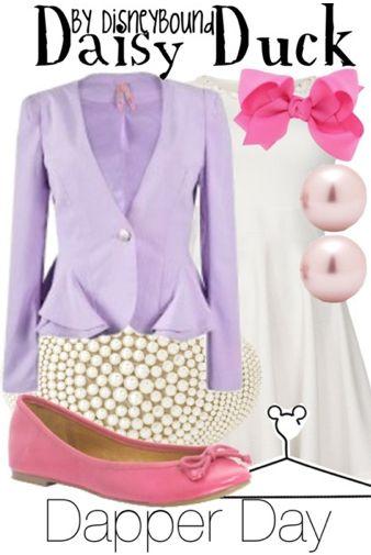 Daisy Duck dapper day outfit | Disneybound