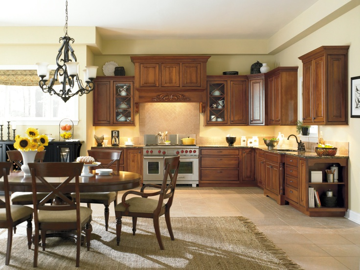 This Relaxed But Refined Dynasty Kitchen In Cherry Nutmeg Onyx Takes Beautifully To Rich Glazes