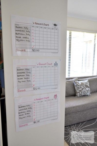 Reward chart with Age appropriate chores for kids